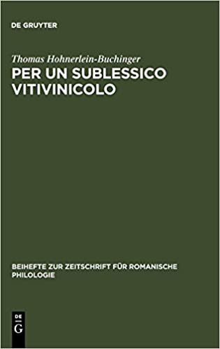 Per Un Sublessico Vitivinicolo: La Storia Materiale E Linguistica Di Alcuni Nomi Di Viti E Vini